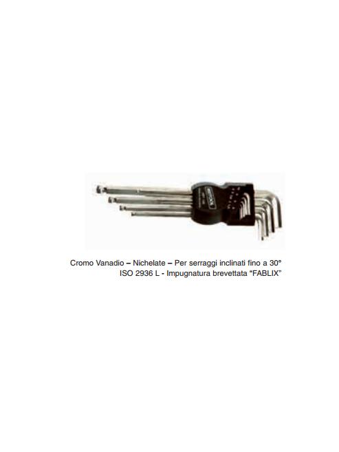 Serie 9 chiavi esagonali tipo lungo